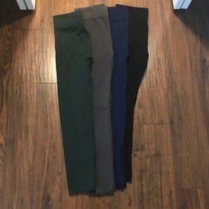 One size leggings four colors